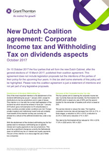 ITS Tax alert - Corporate Income tax and Withholding Tax on dividends aspects