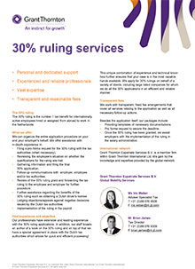 Factsheet 30% Ruling Services - Grant Thornton
