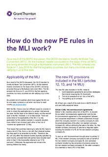 New PE rules in the MLI how do they work
