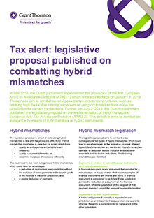 Legislative proposal published on combatting hybrid mismatches