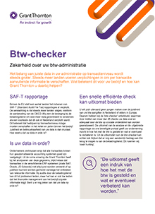 Btw-checker, zekerheid over uw btw-administratie