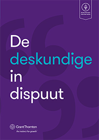 De deskundige in dispuut cover